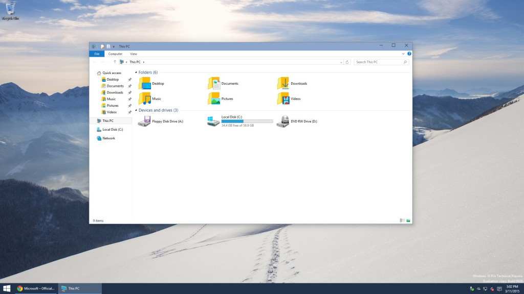 Windows 10 Explorer without OneDrive