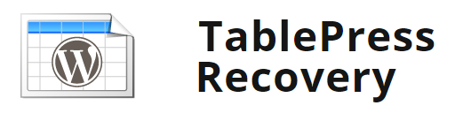 WordPress TablePress Recovery