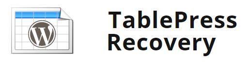 WordPress TablePress Recovery